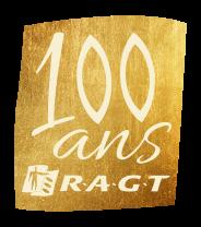 RAGT _ Logo centenaire texture or